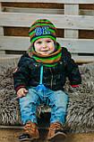 Детская шапка (набор) для мальчиков РОЙ оптом размер 48-50-52, фото 4