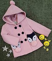 Пальто на девочку, р. 90, 100, 120, розовый