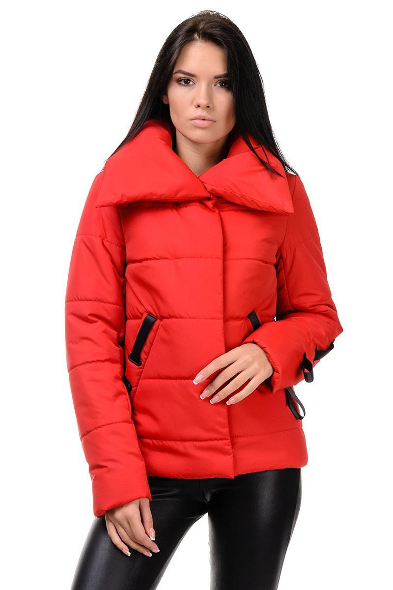 254 Женская куртка осень-весна Люси красный (42-48)