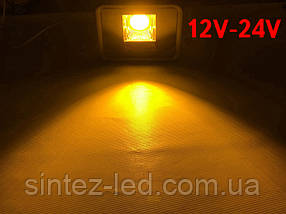 Светодиодный линзованый прожектор PREMIUM LEON SL-50YLens 50W 12-24V DC желтый IP65 Код.59643