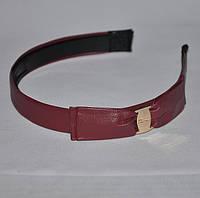 Обруч с кожанным бантиком (от 6 шт.), фото 1