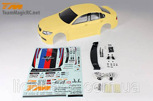 Team Magic E4D 320 Pre-painted Body Shell Yellow