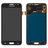 Дисплейный модуль (дисплей, сенсор) для Samsung Galaxy J3 (2016) J320 черный, качественная копия TFT