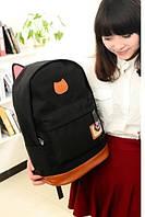 Оригинальный Рюкзак с Ушками В наличии Чёрный Оригинал ,высококачественный,  фабричный!