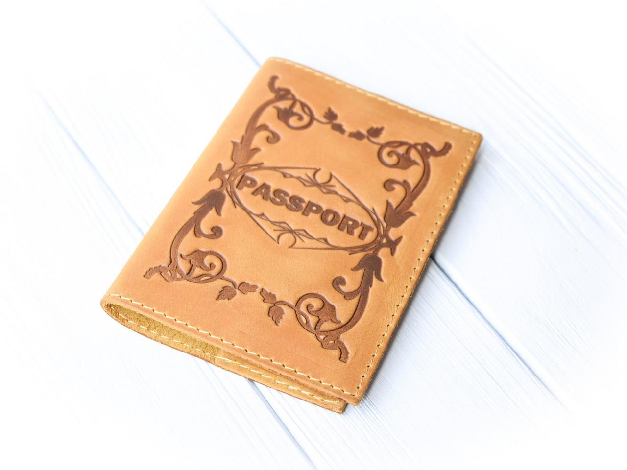 """Обложка для паспорта """"Вензеля"""""""