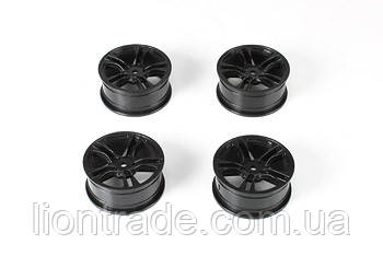 Team Magic E4 Drift Car Wheel 5 Spoke Black 4p
