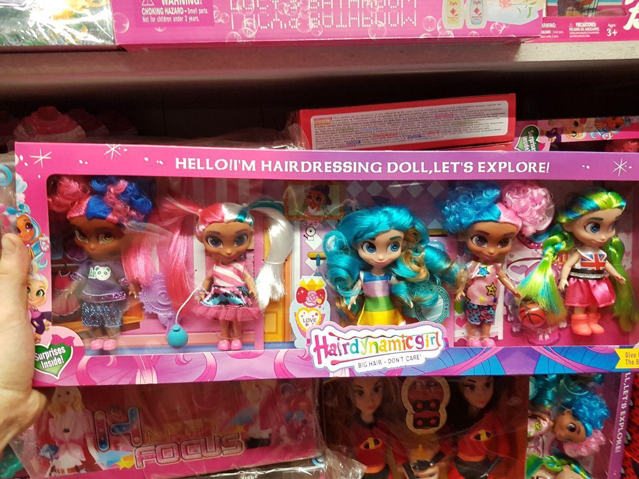 """Куклы Стильные подружки """"Hairdorables"""" набор 5 штук Хэрдораблс DH2215 (Аналог)"""