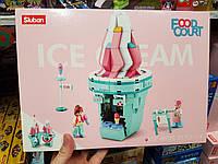 Конструктор SLUBAN M38-B0705G кафе-мороженое, фигурки, 301дет