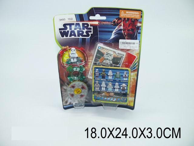 """Конструктор """"STAR WARS"""" 10 видов, на планш. 18х24х3 /360"""