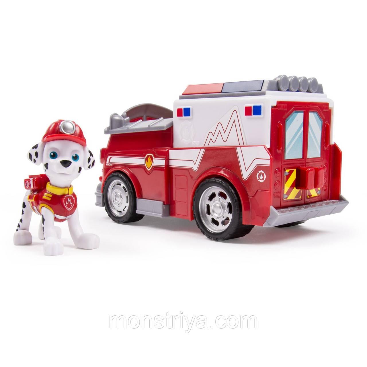 Пожарная машина и щенок Маршалл. PAW PATROL щенячий патруль.