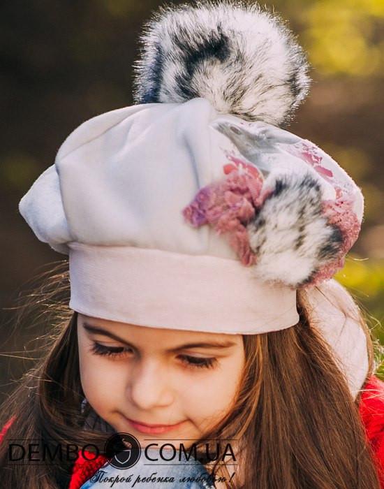 Детская шапка (набор) для девочек СЕЛЕНА оптом размер 50-52-54