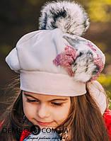 Детская шапка (набор) для девочек СЕЛЕНА оптом размер 50-52-54, фото 1