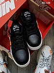 Мужские кроссовки Nike Air Force Off White Blazermid (черно/белые), фото 3