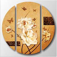 "Эффектная корпусная модульная картина на холсте ""Розы"", 90х90 см"