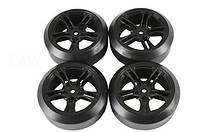 Team Magic E4D Mounted Drift Tire 45 Degree 5 Spoke, Black 4p