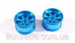 Blue Alum Wheel Rims 2P