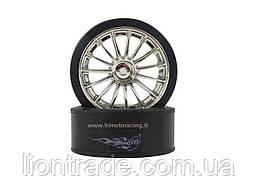 Drift Tires and Chrome Rims E18DT 2P