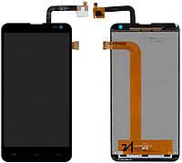 Дисплей (экран) для телефона Fly IQ4514 Quad Evo Tech 4 + Touchscreen Original Black