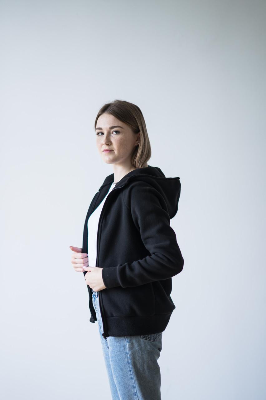 Кофта флісова з капюшоном, жіноча| Фліска