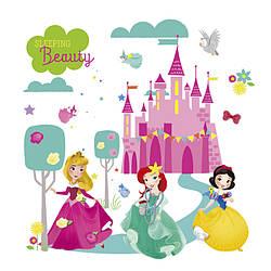 """Интерьерная наклейка в детскую"""" Три принцессы"""" , размер 20*30 см."""