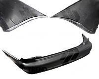 Бампер задний DAEWOO LANOS T150 (накладка) черный. 1106951-P (FPS)