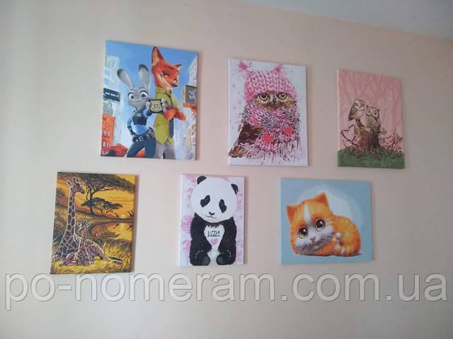 Картины по номерам в детской комнате