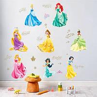 """Интерьерная наклейка в детскую """" Сказочные принцессы"""""""
