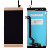 Дисплей (экран) для телефона Lenovo Vibe K5 Note A7020a40, Vibe K5 Note Pro A7020a48 + Touchscreen Gold