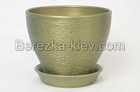 Горшок керамический цвет изумруд (диаметр 16 см.)