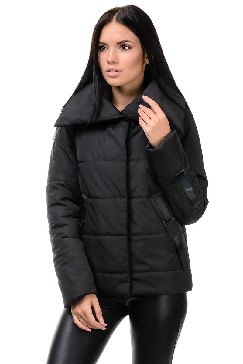 254 Молодежная куртка осень-весна Люси черный (42-48)
