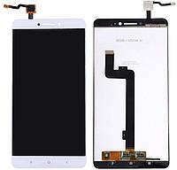 Дисплей (экран) для телефона Xiaomi Mi Max, Mi Max Pro, Mi Max Prime + Touchscreen Original White