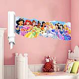 """Интерьерная наклейка в детскую """" Сказочные принцессы"""" рулон, размер 42*81 см., фото 2"""