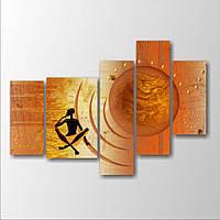 Модульная картина на стену Думающий человек, 146х100 см