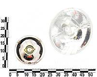 Фара ВАЗ 2101, 2102 левая=правая стекло+отражатель без подсветки, с отраж, Р45. 09.3711200-15 (ФОРМУЛА СВЕТА)