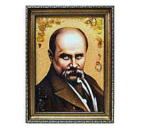 Портрет Тараса Шевченка сложная 30*40 картина с янтарем