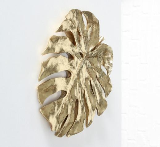 Настенный декор h49см полистоун золото лист монстеры монстера 1016157