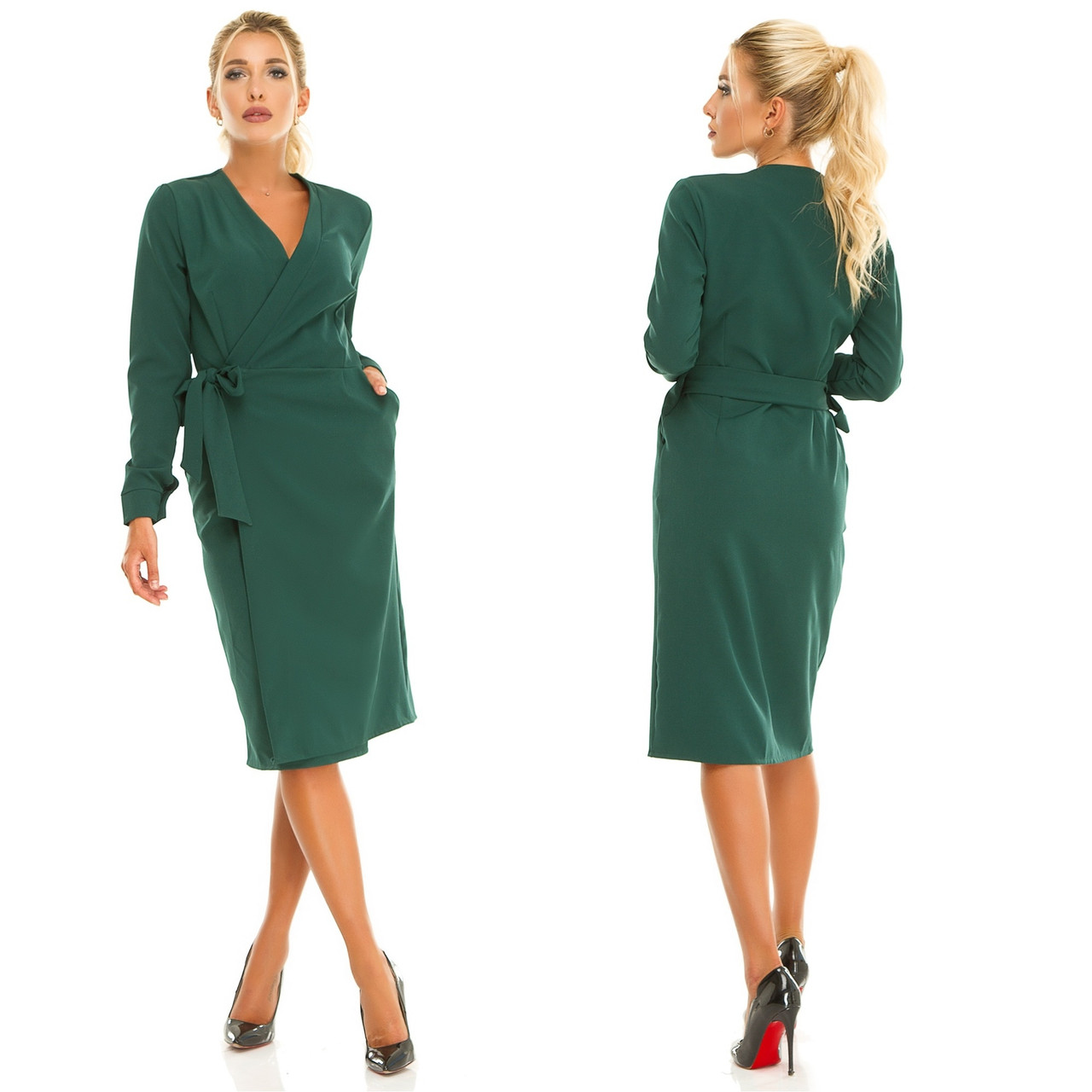 Женское платье на запах.Размеры:44-50.+Цвета