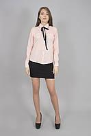 Блуза женская с длинным рукавом светло-розовая  (Блуза жіноча з довгим рукавом світло-рожева) , фото 1