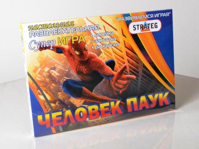 """Игра """"Человек-паук"""", в кор-ке, 33-25-2,5см /20/ Стратег"""