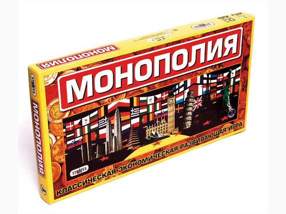 """Игра 693 (10шт) Стратег, """"Монополия большая"""", в кор-ке, 50-27-4см, фото 2"""