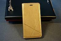 Чехол книжка для Meizu M5 ( Мейзу М5 ) цвет золотистый