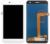 Дисплей (экран) для телефона WileyFox Spark, Spark Plus + Touchscreen White