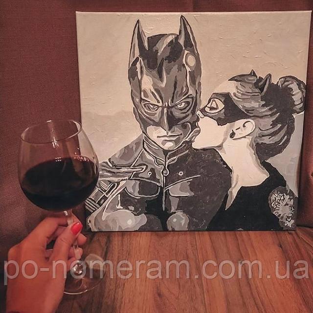 Картина по номерам Поцелуй кошки отзыв и фото