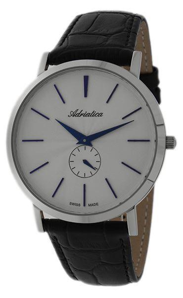 Мужские часы Adriatica 1113.52B3Q Черные (61557)