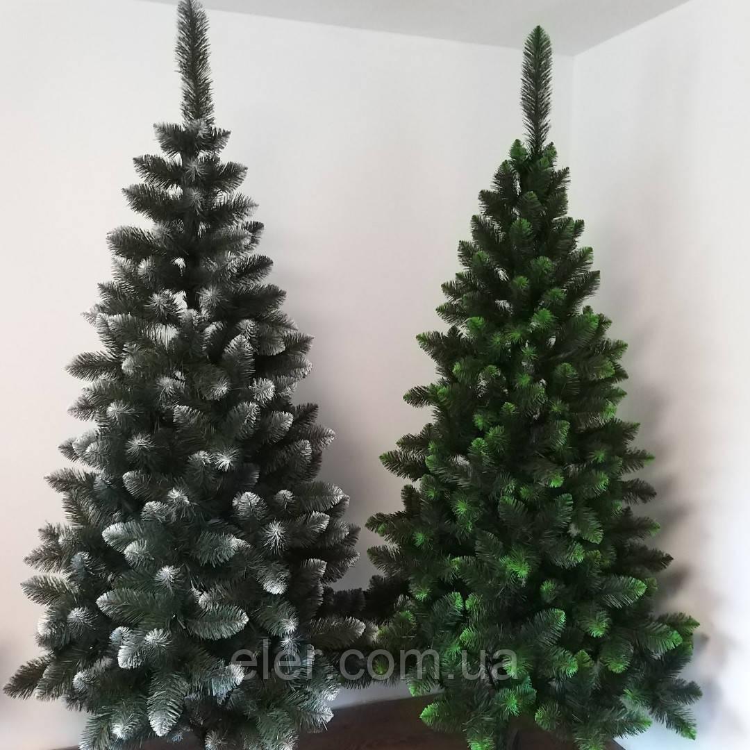 """""""Королева"""" европейская елка с белым или салатовым напылением 1.5 м. Штучные елки от производителя. 1.5м"""