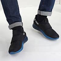 Мужские кроссовки из натуральной кожи на липучке