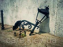Настенный кронштейн декоративный  со светильником