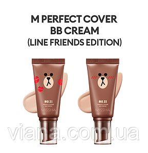 MISSHA M Perfect Cover BB Cream 50ml 23 - Natural Beige  Лимитированный выпуск [Line Friends Edition]
