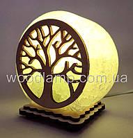Соляной светильник круглый маленький Дерево