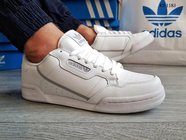 Мужские кроссовки Adidas Continental 80 (белые)